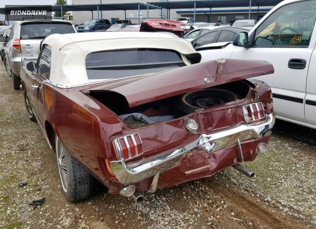 Lot #1310553074 1966 FORD MUSTANG salvage car