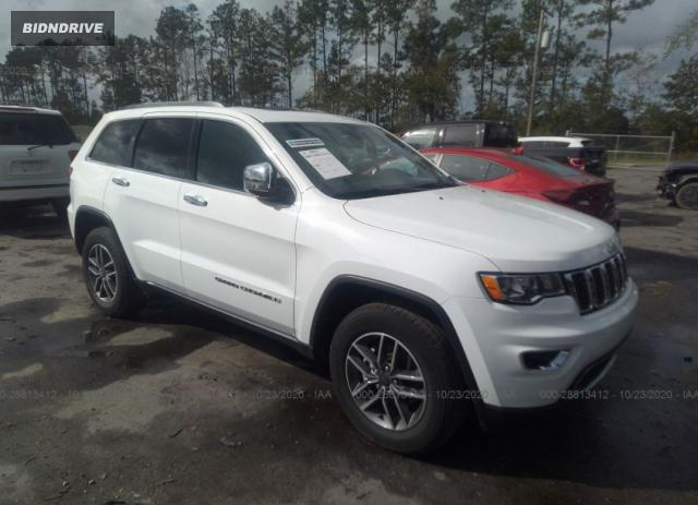 Lot #1607176941 2020 JEEP GRAND CHEROKEE LIMITED salvage car