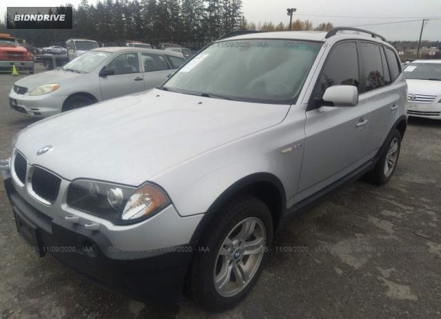 Lot #1607652971 2005 BMW X3 3.0I salvage car