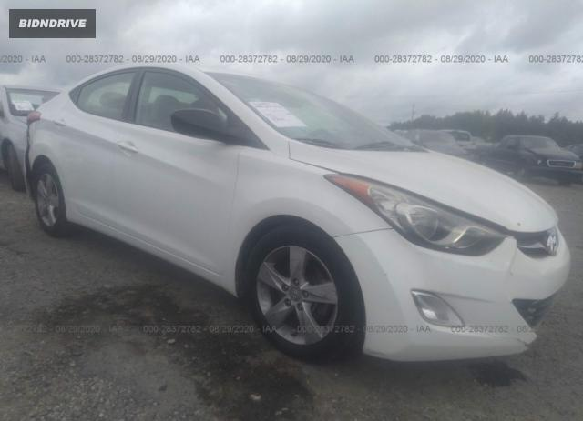 Lot #1611309857 2013 HYUNDAI ELANTRA GLS salvage car
