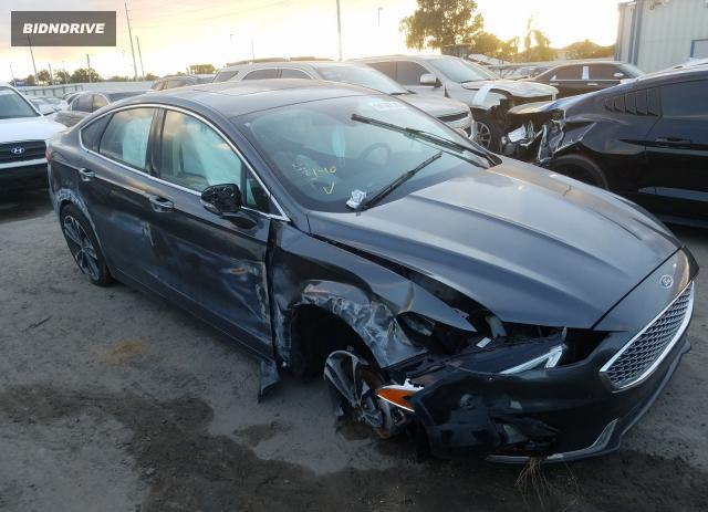 Lot #1611986981 2020 FORD FUSION TIT salvage car
