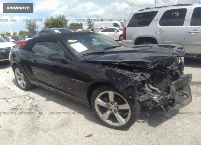 Lot #1613885101 2013 CHEVROLET CAMARO LT salvage car