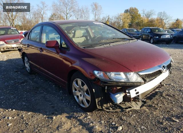 Lot #1614477807 2010 HONDA CIVIC LX salvage car