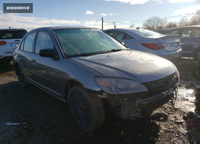 Lot #1617713341 2005 HONDA CIVIC salvage car