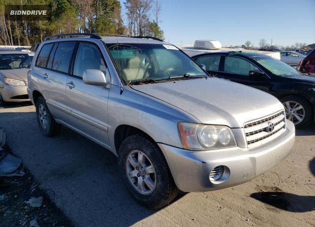 Lot #1623584091 2002 TOYOTA HIGHLANDER salvage car