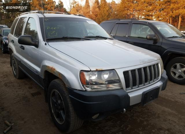 Lot #1630220344 2004 JEEP GRAND CHER salvage car