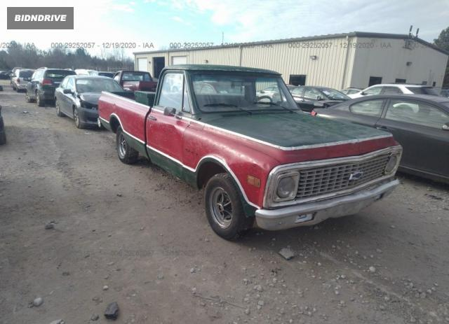 Lot #1639429884 1972 CHEVROLET C10 salvage car