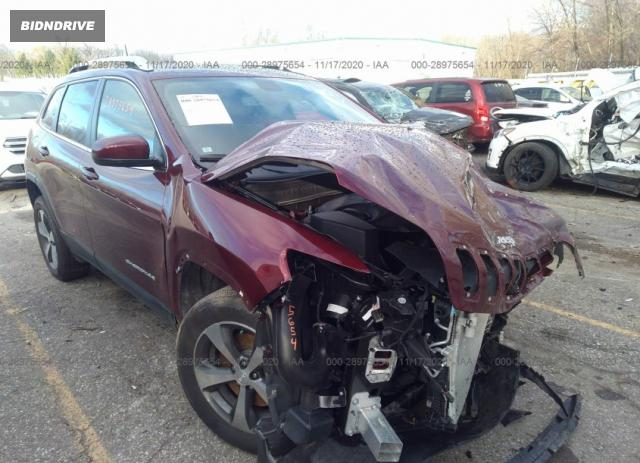 Lot #1639481887 2019 JEEP CHEROKEE LIMITED salvage car