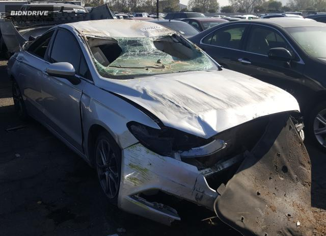 Lot #1641091614 2017 FORD FUSION SE salvage car