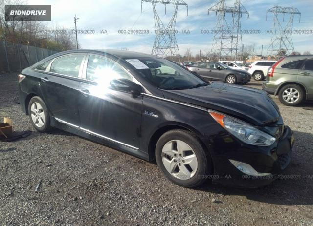 Lot #1641519227 2012 HYUNDAI SONATA HYBRID salvage car