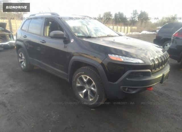 Lot #1643084434 2014 JEEP CHEROKEE TRAILHAWK salvage car