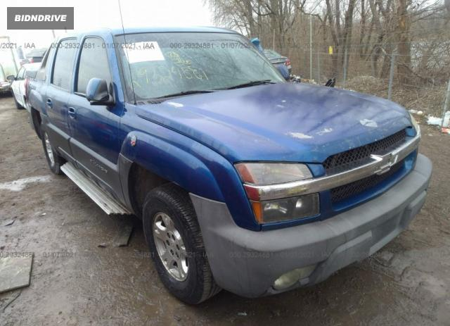 Lot #1657702527 2003 CHEVROLET AVALANCHE salvage car