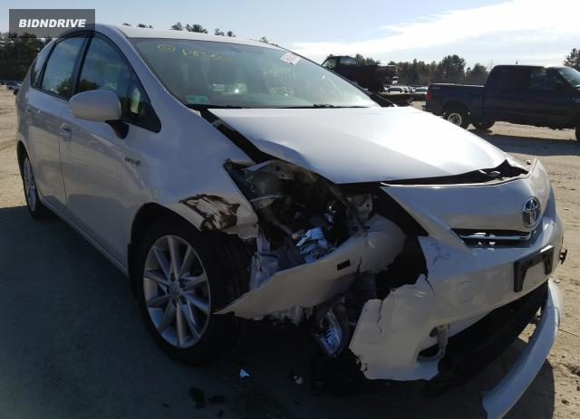 Lot #1674595611 2014 TOYOTA PRIUS V salvage car