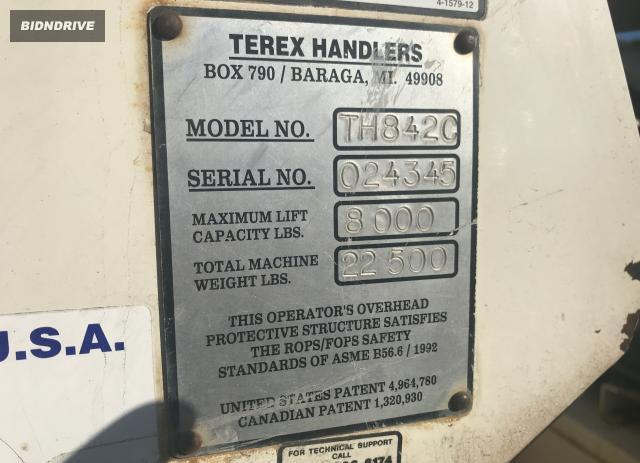 Lot #1691782224 2003 TERE FORKLIFT salvage car