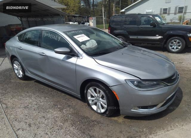 Lot #1694430077 2015 CHRYSLER 200 LIMITED salvage car