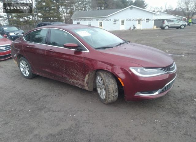 Lot #1694431927 2015 CHRYSLER 200 LIMITED salvage car